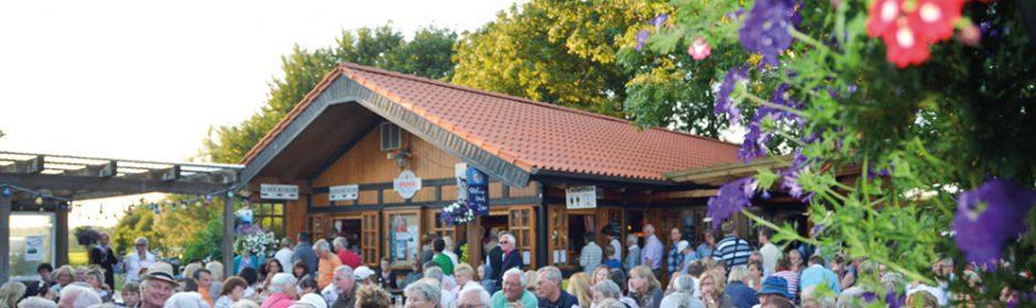Biergarten im Upholm-Hof